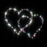 Estrellas del amor de los corazones Imagen de archivo