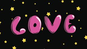 Estrellas del amor y del amarillo almacen de video