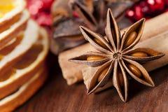 Estrellas del anís en la Navidad Fotografía de archivo libre de regalías