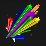 Estrellas del color Stock de ilustración