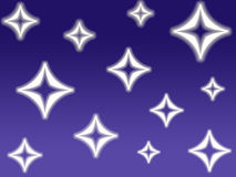 Estrellas del diamante Fotografía de archivo libre de regalías