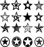 Estrellas del grunge del vector fijadas fotografía de archivo