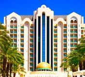 Estrellas del hotel cinco del palacio de Herods Front View Eilat Fotografía de archivo libre de regalías