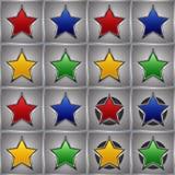 Estrellas del metal Imágenes de archivo libres de regalías