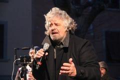 Estrellas del movimiento cinco de Beppe Grillo Fotografía de archivo
