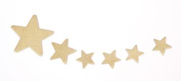 Estrellas del oro Fotografía de archivo libre de regalías