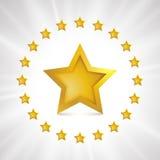 Estrellas del oro del vector Foto de archivo libre de regalías