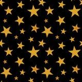Estrellas del oro La celebración del confeti, decoración abstracta de oro que cae para el partido, cumpleaños celebra, aniversari stock de ilustración