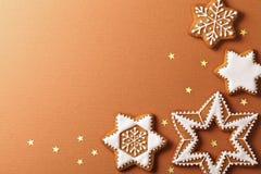 Estrellas del pan de jengibre Foto de archivo