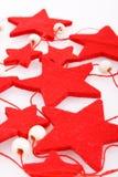 Estrellas del rojo del día de fiesta del fieltro Imagenes de archivo