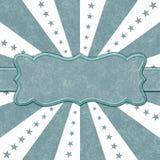 Estrellas del trullo y del blanco y líneas fondo de la explosión con la cinta fotografía de archivo libre de regalías