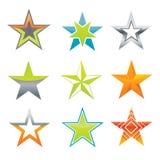 Estrellas del vector como elementos del diseño stock de ilustración