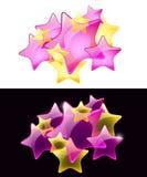 Estrellas del vector con la transparencia/el uso fácil libre illustration