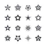 Estrellas del vector fijadas en un fondo blanco Foto de archivo libre de regalías