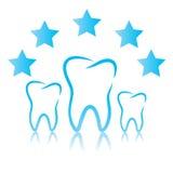 Estrellas dentales del símbolo cinco ilustración del vector