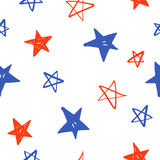 Estrellas dibujadas mano incompleta Imágenes de archivo libres de regalías