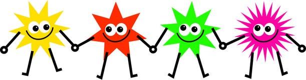 Estrellas diversas stock de ilustración
