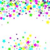 Estrellas el caer multicoloras del confeti stock de ilustración