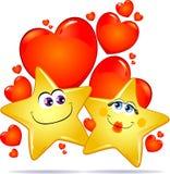 Estrellas en amor stock de ilustración