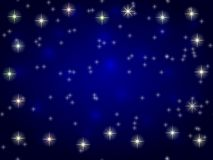 Estrellas en cielo nocturno azul