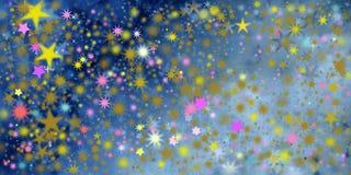 Estrellas en diversas dimensiones de una variable Fotografía de archivo libre de regalías