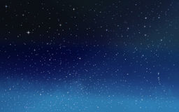 Estrellas en el cielo nocturno Fotografía de archivo libre de regalías