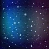 Estrellas en el fondo del cielo nocturno Fotos de archivo