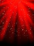 Estrellas en fondo rayado rojo. EPS 8 libre illustration