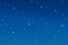 Estrellas en la noche Fotografía de archivo libre de regalías