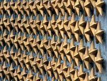 Estrellas en la pared Imágenes de archivo libres de regalías