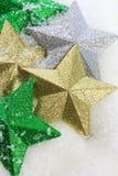 Estrellas en nieve Imágenes de archivo libres de regalías