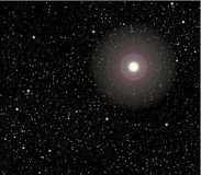 Estrellas en vector de espacio Imagen de archivo libre de regalías