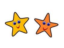 Estrellas felices stock de ilustración