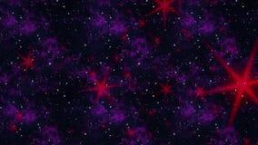 Estrellas flotantes del rojo