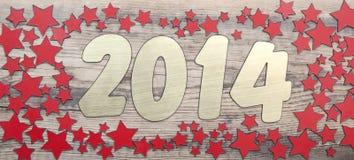 Estrellas fondo y número 2014 Fotografía de archivo