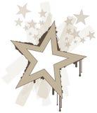 Estrellas frescas del vector del grunge libre illustration