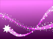 Estrellas fugaces de la lila Foto de archivo libre de regalías