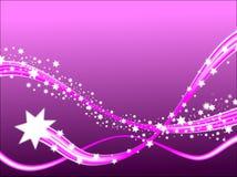 Estrellas fugaces de la lila Imagenes de archivo