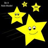 Estrellas fugaces del modelo Foto de archivo libre de regalías