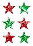 Estrellas grandes de Navidad Imagen de archivo libre de regalías