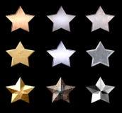 Estrellas hermosas del metal Foto de archivo libre de regalías