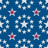 Estrellas inconsútiles blanco y azul rojos Imagen de archivo