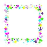Estrellas multicoloras del confeti ilustración del vector