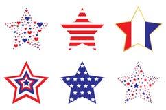 Estrellas patrióticas Imagen de archivo
