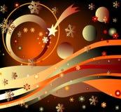 estrellas, planetas y arco iris ilustración del vector