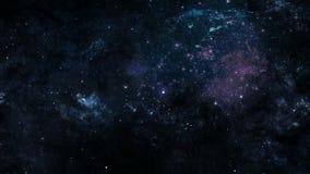 Estrellas, planetas y galaxias en espacio exterior stock de ilustración