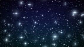 Estrellas que caen como los copos de nieve Contexto de la Navidad HD 1080 Animación colocada hermosa ilustración del vector