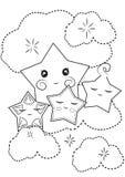 Estrellas que colorean la página Foto de archivo