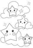 Estrellas que colorean la página Fotografía de archivo libre de regalías