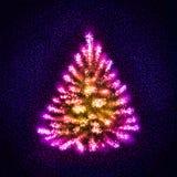 Estrellas que forman un árbol de navidad abstracto imagenes de archivo